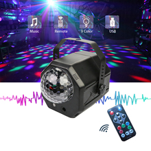 RGB LED Crystal Disco Magic Ball With 60 Patterns RG Laser Projector DJ Party Holiday Bar Christmas Stage Lighting Effect led star laser projector christmas lights outdoor 10 patterns halloween snowflake led stage effect rg shower laser projector