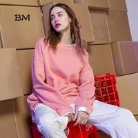 2019 high quality kpop sweatshirt Irregular tailoring Polka Dot oversized hoodie Korean style Loose streetwear women clothes