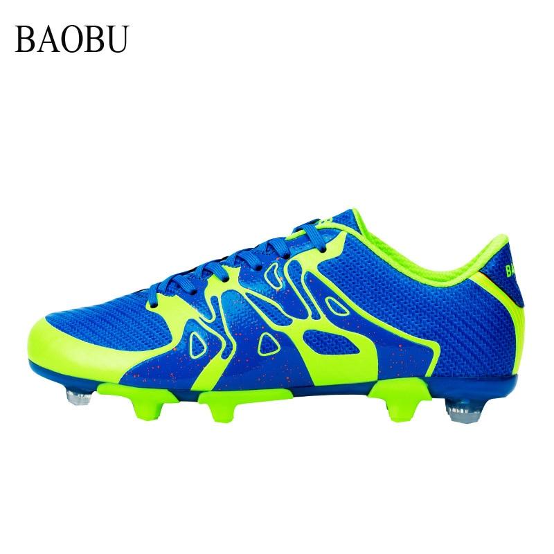 Hommes professionnel ag longues pointes chaussures de football en plein air pelouse de football chaussures respirant athletic football chaussures sapatas ne futebol