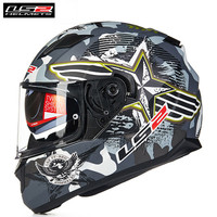 LS2 Stream Helmets FF328 Motorcycle Full Face Helmet Dual Visors Racing FF320 Upgraded Version DOT Approved