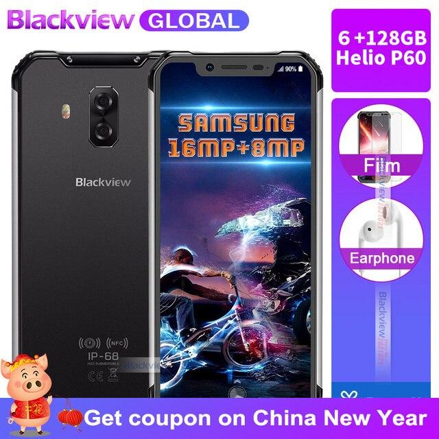 "Blackview BV9600 pro Rugged IP68 Waterproof Helio P60 Global 4g mobile phone 6.21""inch Smartphone 6GB RAM 128GB MT6771 5580mAh"