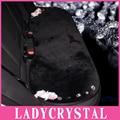 Ladycrystal personalizado estilo do carro almofadas de assento para meninas de cristal lã de pelúcia tampa de assento do carro
