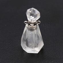 100-Unique 1 Pcs Stainless Steel Scent Bottle Pendant Original Rock Crystal Necklace Elegant Women Jewelry