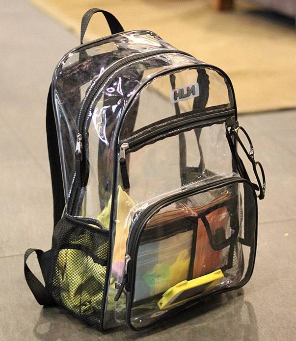 ФОТО Stylish Waterproof Transparent PVC Backpacks Korean Men Beach Bag Female Student Backpack Women bolsas femininas couro mochila