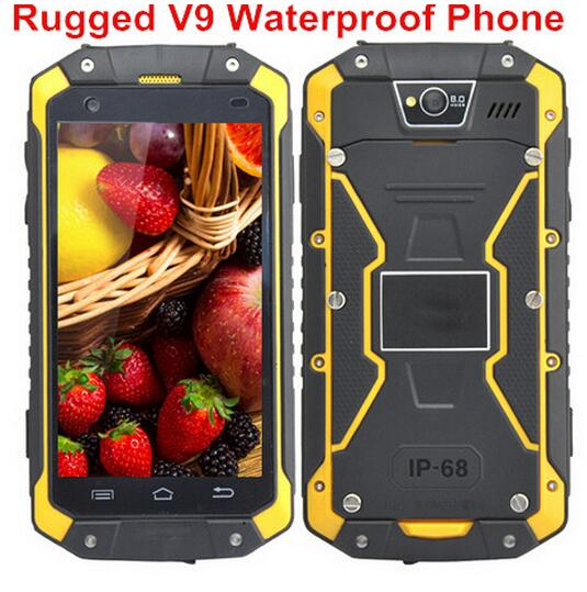 24 Hours Shipping Guophone V9 IP68 Rugged 4 5 Waterproof 4000mAH MTK6572 Android 4 4