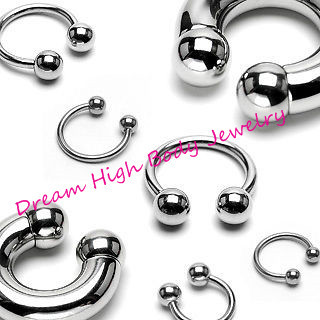 Horseshoe Lip Stud Labret Ring Eyebrow Piercing Barbell Jewelry 316L surgical steel More size can choose
