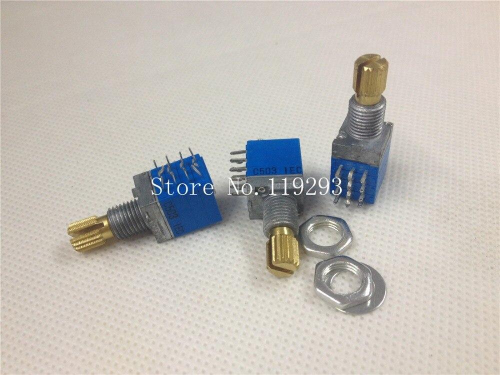 [BELLA]TOCOS Nissan RK097 Precision Potentiometer C50K * 4 stepper axis length 15MM 4 -channel--10PCS/LOT ...