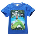 New 2016 Boy's T Shirt Cotton Short-sleeved T-shirt Summer Children's Cartoon Green/Blue Kids Boys Child's Clothes for 4-9y