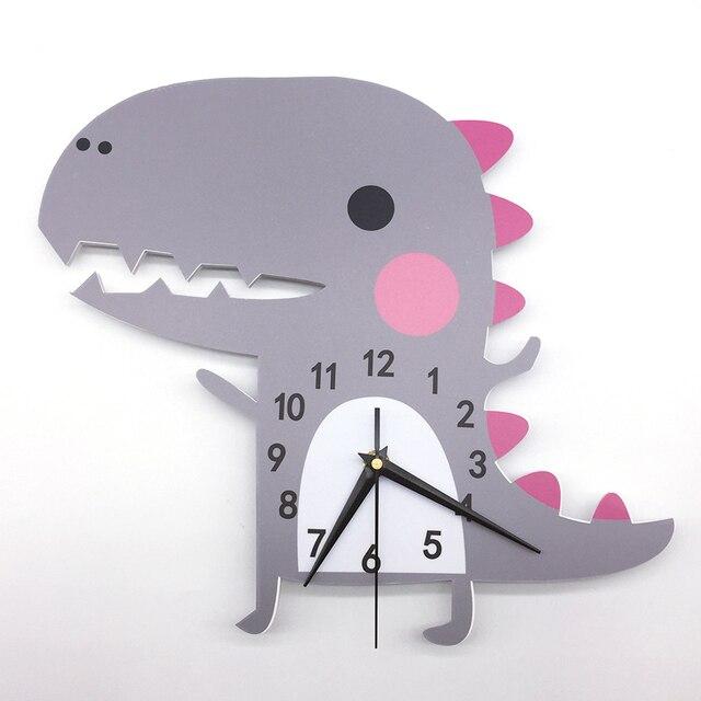 3D Dier Wandklok Dinosaurus Patroon Ontwerp Decoratie Slaapkamer ...