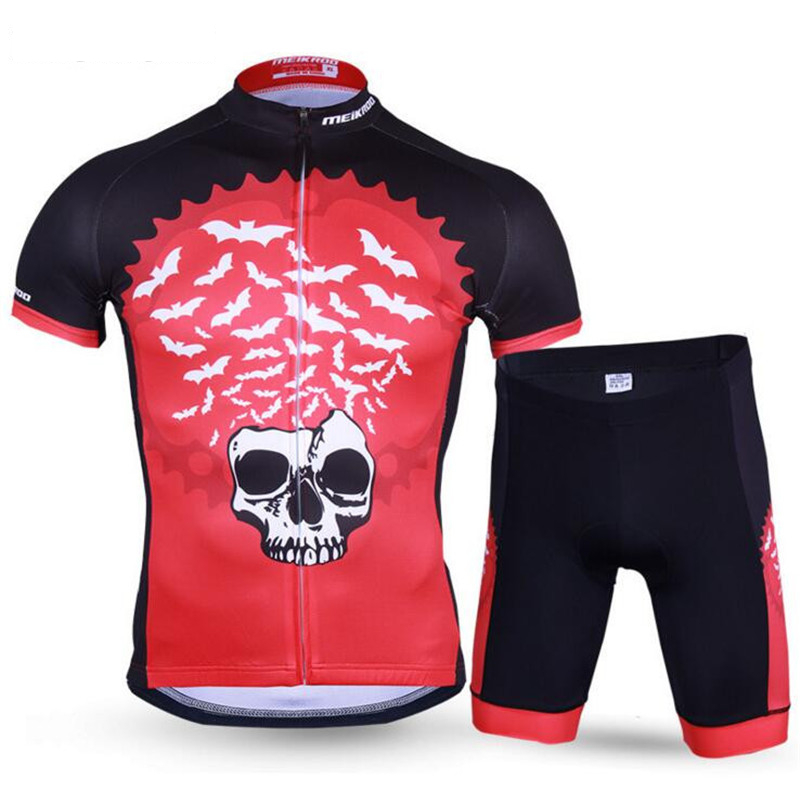 2017 New Cycling Sets Ropa Ciclismo Short Sleeves Bike Sport Suits Padded Clothing Bike Bat MTB Tracksuit Man Bicycle Sets H085
