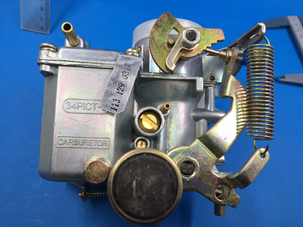 US $110 0  carb carby for VW VOLKSWAGEN 34 PICT 3 CARBURETOR 12V ELECTRIC  CHOKE 113129031K-in Carburetors from Automobiles & Motorcycles on