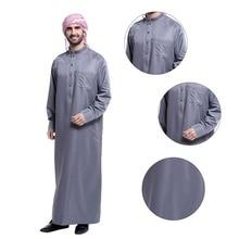 High Quality Muslim Islamic Clothing for men Arabia Embroidery abaya plus size dubai Men's Kaftan long sleeves Jubba clothing