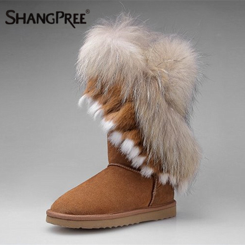 Large size Natural Genuine Leather womans winter snow boots for women winter boots rabbit fur tassels high quality shoes woman 2pcs carchet white 18 led 3528 smd license plate light lamp for skoda superb dc 12v for vw caddy 04