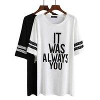 2016 koreanische plus größe 5xl frauen t shirts fett mm sommer lose kurzärmeligen t-shirt druck letztere basis rock frauen Mutterschaft