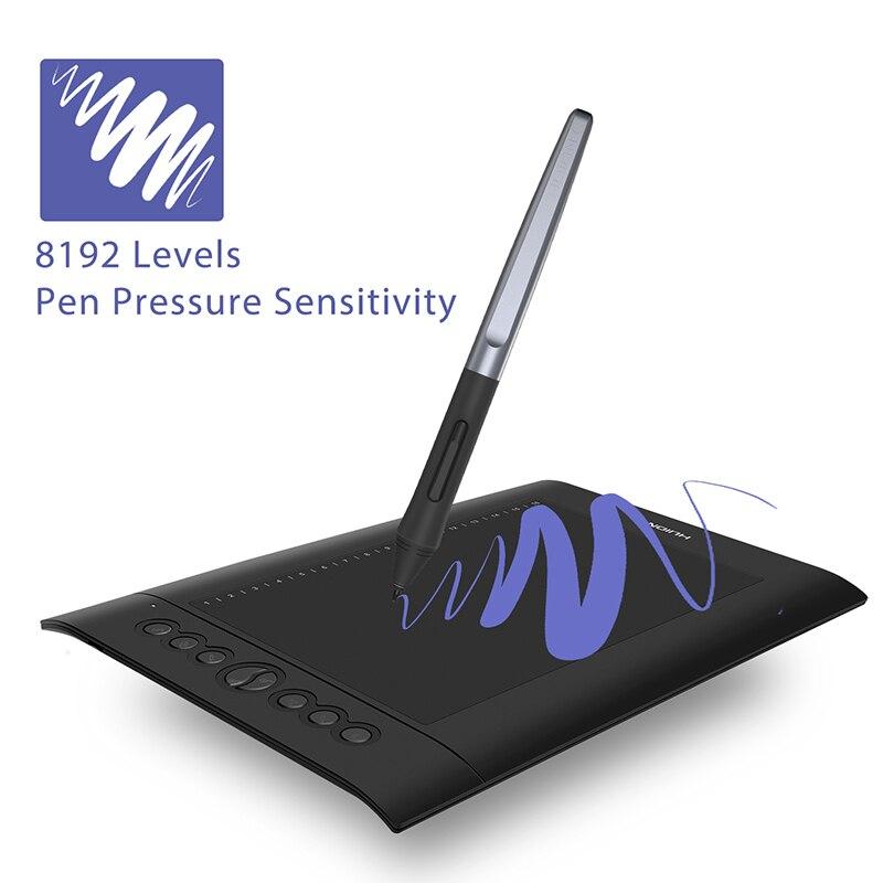 Huion H610 PRO V2 8192 niveaux tablette numérique dessin graphique tablette sans batterie stylo tablette avec fonction d'inclinaison pour Win et Mac - 4