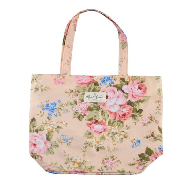 3 Color Women Cloth Handbags With Simple Design Rose Flower Single Shoulder  Bag Women Tote Handbag