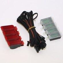 Porta Targa Spia + LED Interni Luci Vano Piedi + Cablaggio Per Q3 Q5 Q7 A3 A4 S4 A6 S6 RS7 3AD 947 409 8KD947411
