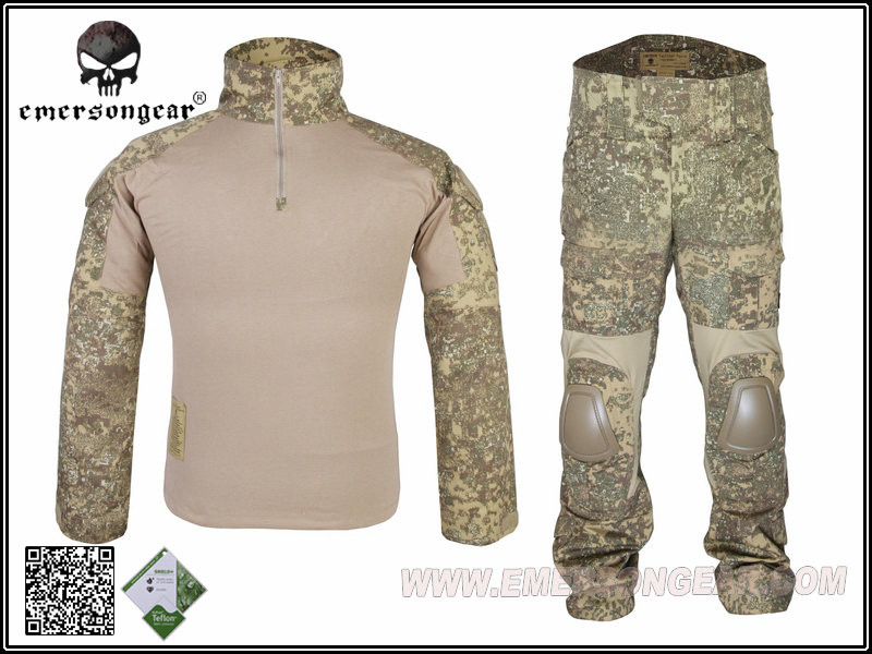 Emerson Camouflage Men's Tactical Uniform Shirt &Pants Military Combat Hunting Army Suit Paintball Hunting Gen2 Official Unifor military uniform multicam army combat shirt uniform tactical pants with knee pads camouflage suit hunting clothes