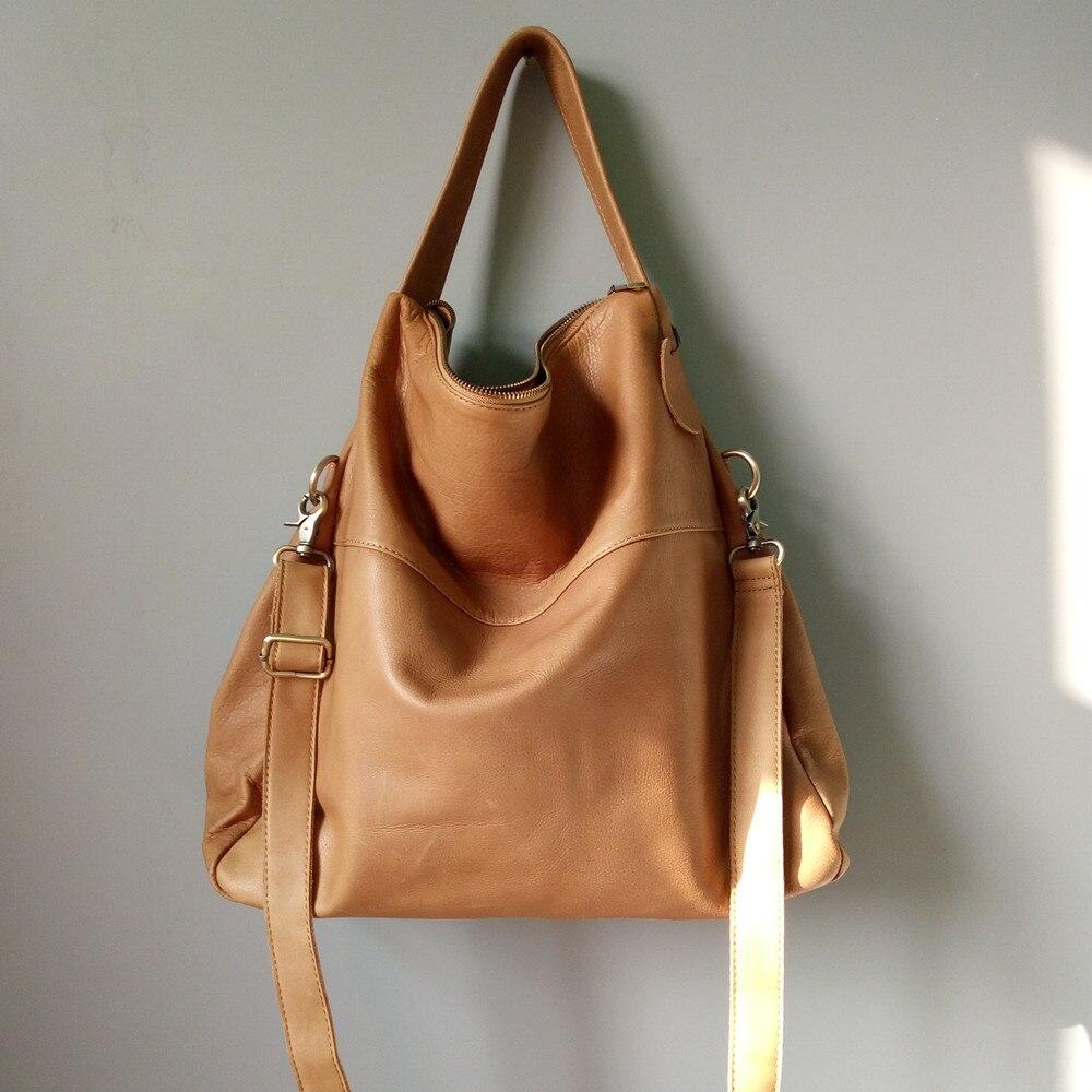 2018 à la mode doux véritable en cuir grand fourre-tout d'épaule sac pour femmes de causalité noir brun une épaule sac lady grande capacité sac