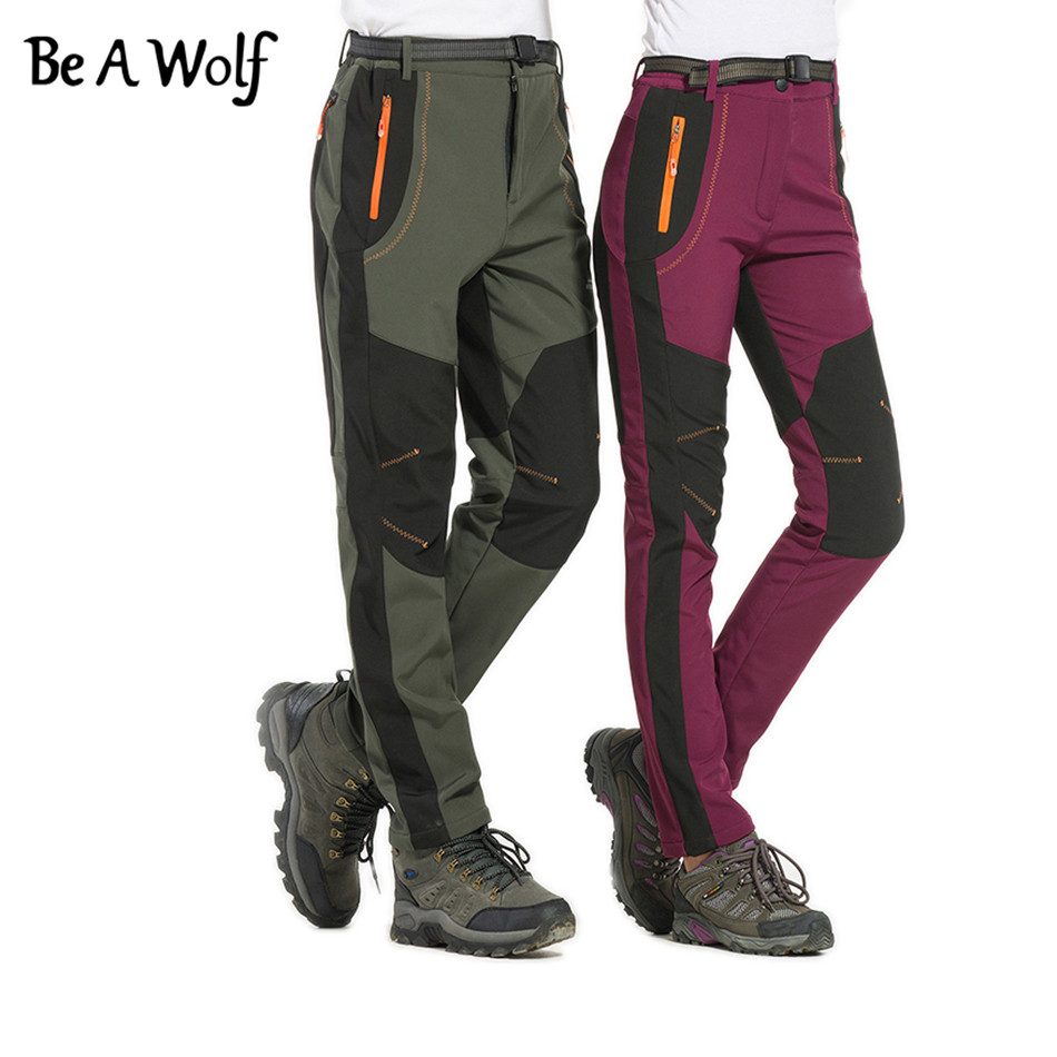 Be A Wolf Men Hiking Pants Outdoor Softshell Trousers Waterproof Windproof Fishing Cycling Sports for Camping Ski Climbing B158