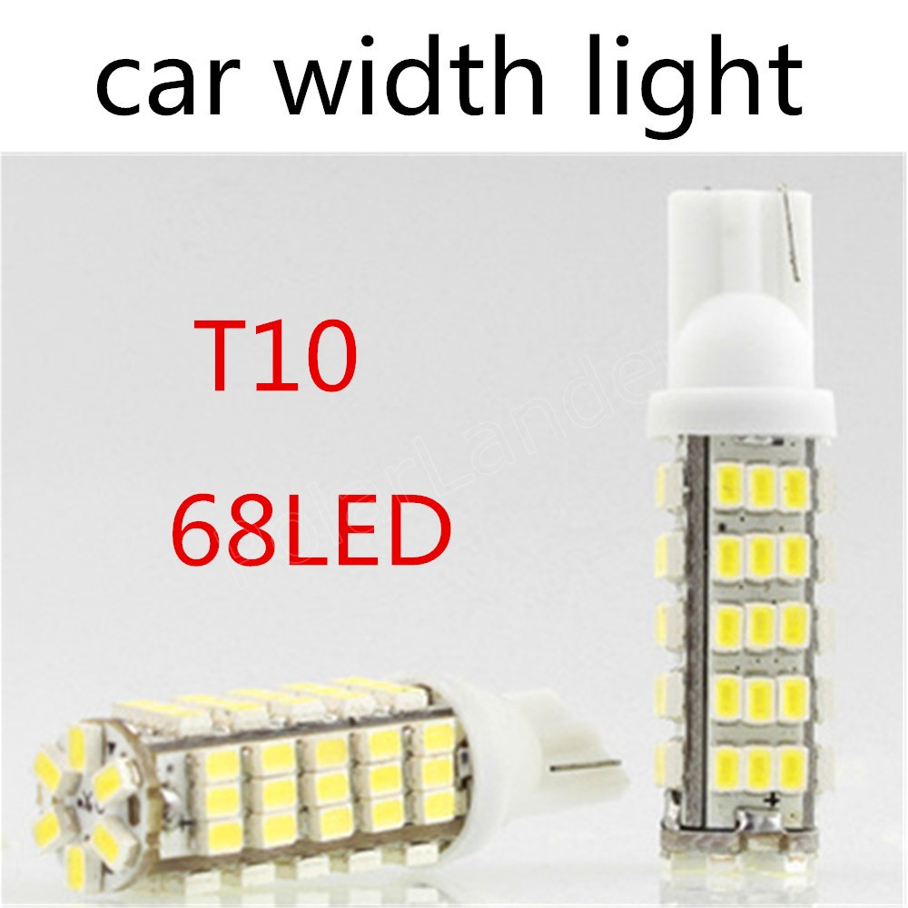 2 pieces facotry price sale T10 LED 1206 2.5W Canbus 68 SMD LED Car Interior Bulbs Light Parking Width Lamps clearance parking