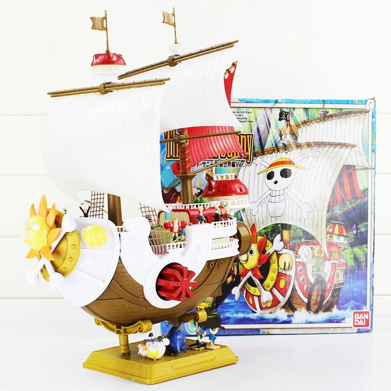 Anime One Piece Thousand Sunny Pirate ship Model PVC Action Figure Collectible Toy 40*27cm anime cardcaptor sakura figma kinomoto sakura pvc action figure collectible model toy doll 27cm no box