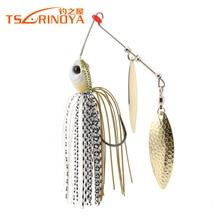 TSURINOYA P25 Spinnerbait 10g Fishing Lure 5 PCS/Lot Wobblers Metal Spoon Jig Lure Buzzbait Lure Artificial Baits Hard Bait