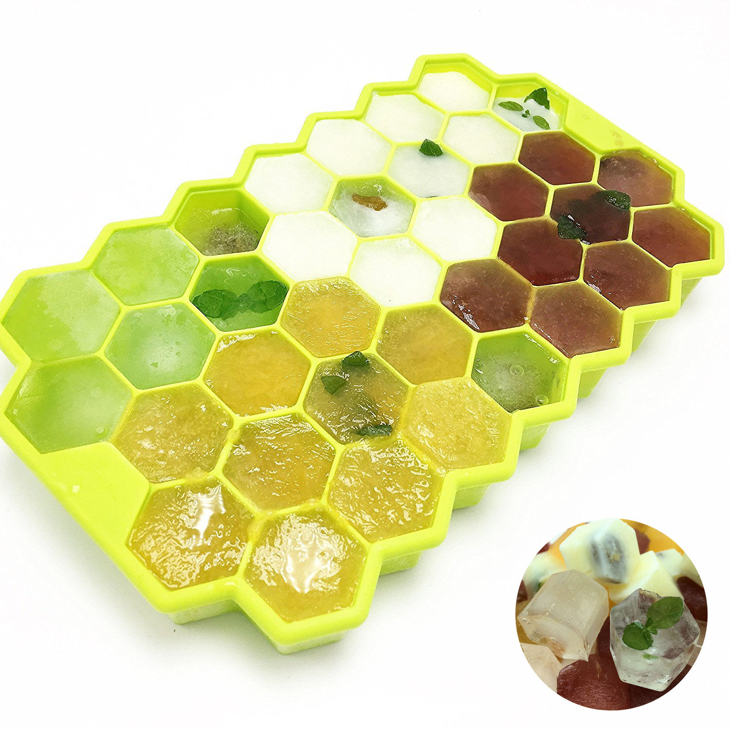 1PCS 37 Cavity Honeycomb Ice Form Silicone Ice Cream Maker Silicone Ice Cube Tray Silicone Mold DIY Cube Mold Kitchen Tools