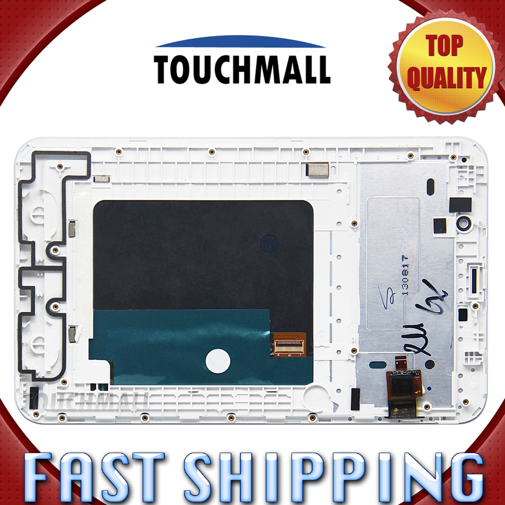 For New LCD Display Touch Screen with Frame Assembly Replacement Lenovo IdeaTab A3000 7-inch Black White Free Shipping 100% original for lenovo s850e s850 lcd screen display with touch screen digitizer assembly black or white free shipping