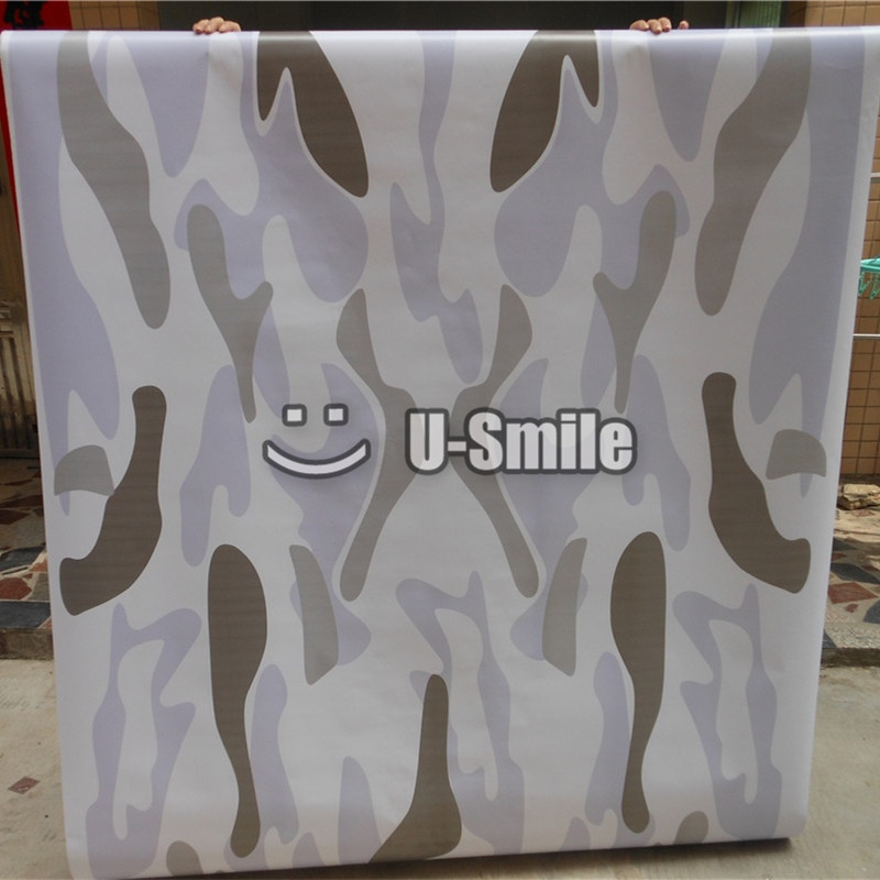 Arctic Camo Vinyl Sticker White Camouflage Sticker Bomb Car Wrap For SUV TRUCK Jeep Wraps 30M/Roll стоимость
