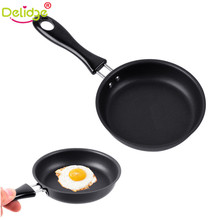 Delidge 1 pc 12 cm Frying Pan Cast Iron Non-Stick Omelette Breakfast Pan Mini Egg Frying Pan Cooking Tool(China)