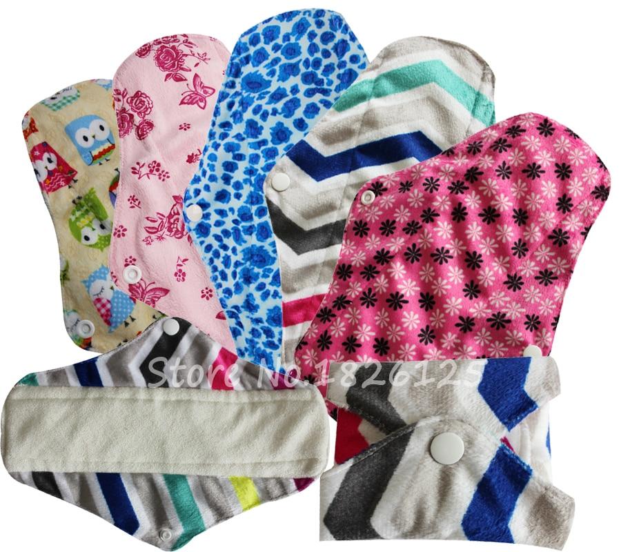 Free Sample Mama Cloth Sanitary Pads Bamboo Minky Reusable ...