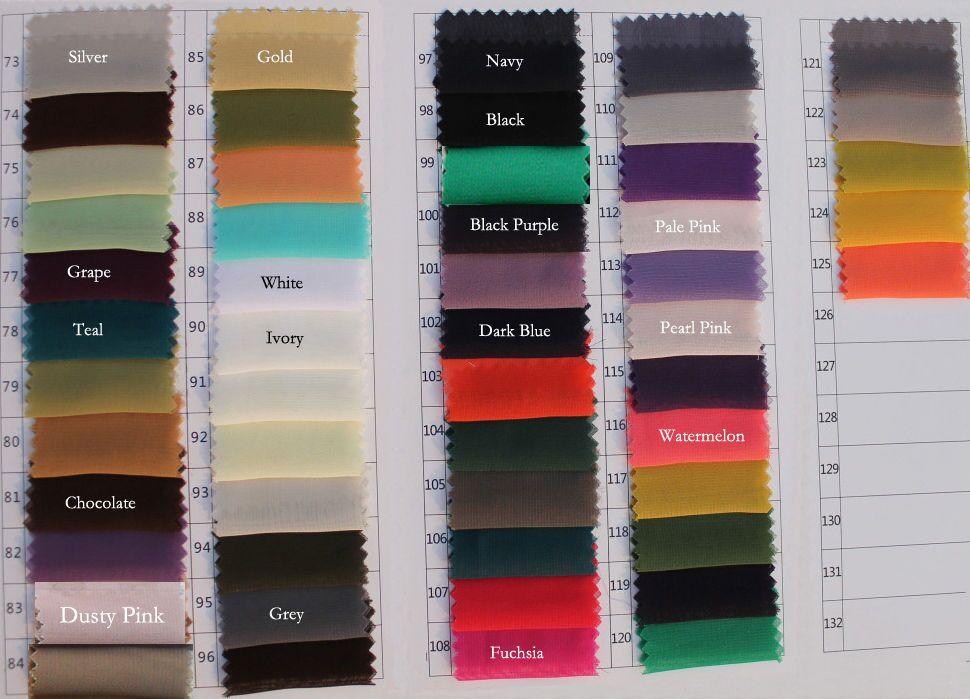 Chiffon Color Chart B