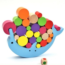 Baby Toy Wooden Children s Montessori Toys Early Education Balance Building Blocks Toys Family Games Building