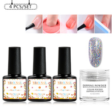 RBAN NAIL Dipping Nail System Kit Art Dip Powder With Base Activator Liquid Gel Color Natural Dry Without Lamp