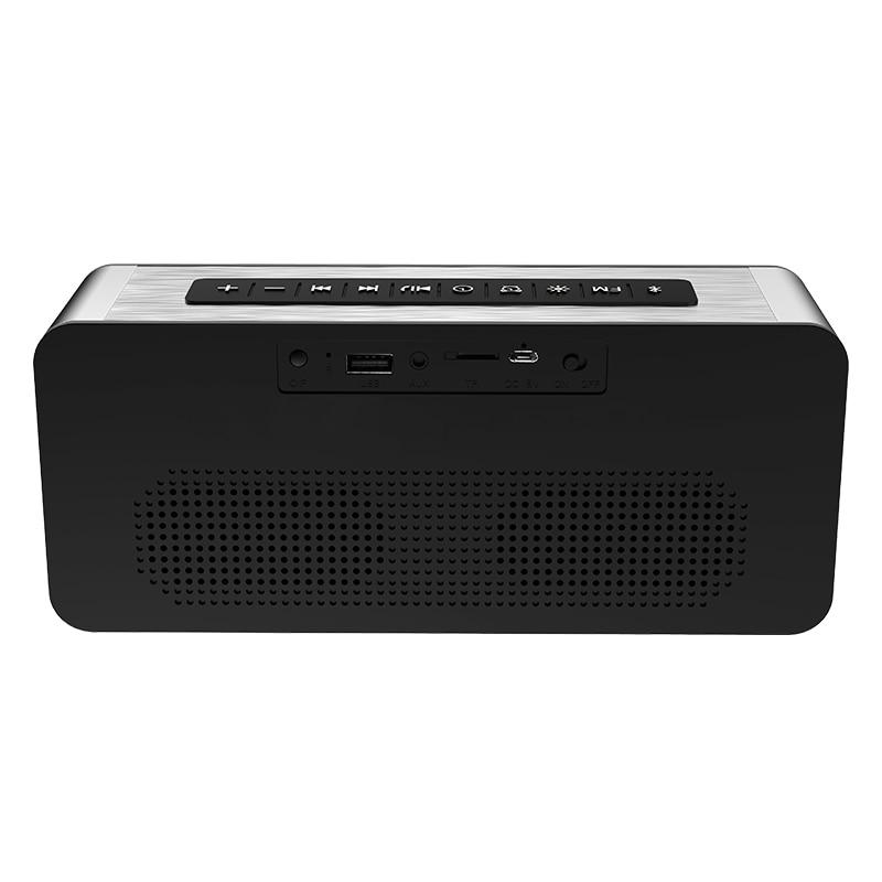 TTKK SARDiNE A10 Large Display LED Wireless Bluetooth Speaker w/FM Radio Alarm Clock Super Bass Heavy Subwoofer Support Card