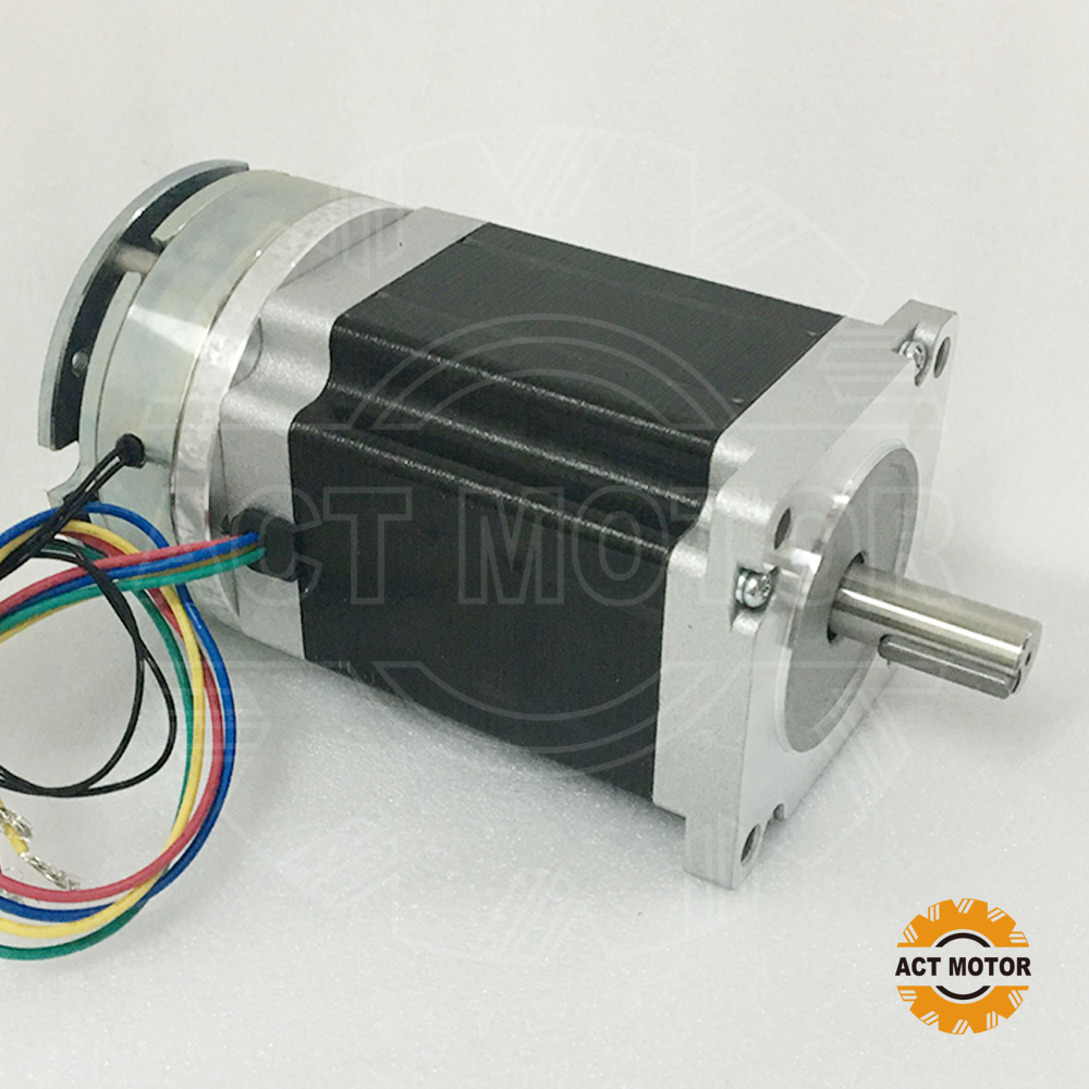 Shipping from China!ACT Motor 1PC Nema34 Brake Motor 34HS1450D14L34J5-S8 1140oz-in 114mm 5A 4-Lead 2Phase Engraving Machine shipping from china act motor 1pc nema34 brake motor 34hs5460d14l34j5 s8 1140oz in 150mm 6a 4 lead 2phase engraving machine