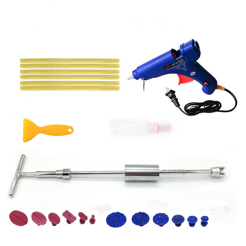 dent repair tools set paintless dent removal tools kit slide hammer dent glue tabs glue sticks car repair hand tools pdr tools for car kit dent lifter glue tabs suction cup hot melt glue sticks paintless dent repair tools hand tools set