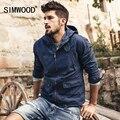 Simwood jaqueta de algodão da marca 2017 nova primavera homens moda causal casacos zipper wj1650