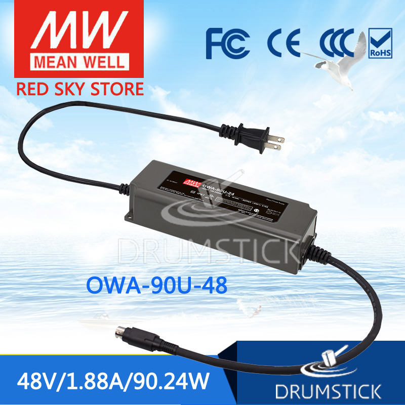 Advantages MEAN WELL OWA-90U-48 48V 1.88A meanwell OWA-90U 48V 90.24W Moistureproof Adaptor with lock type mean well owa 90e 36 36v 2 5a meanwell owa 90e 36v 90w single output moistureproof adaptor
