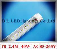 Integrated SMD 2835 LED Tube Light Fluorescent LED Tube Lamp T8 2400mm 2 4M 8FT 40W