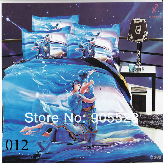 2013 100% quality luxury oil painting Duvet cover modern king queen 3d bedding set 4PC bedclothes bed sheet sets bedding covers