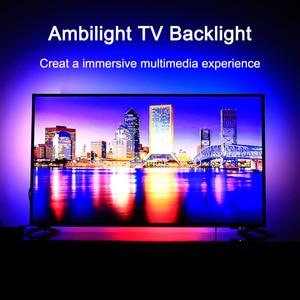 Image 1 - Ambilight TV Backlights Flexible LED light Tape Ribbon RGB Color Changeable TV Background Lighting HDTV TV HDMI sources Kit