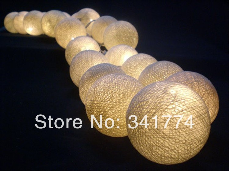 Novelty LED luminarias Pendant Rattan Cotton Balls Strings Lights Garland for Home Cristmas New Year Wedding holiday decoration