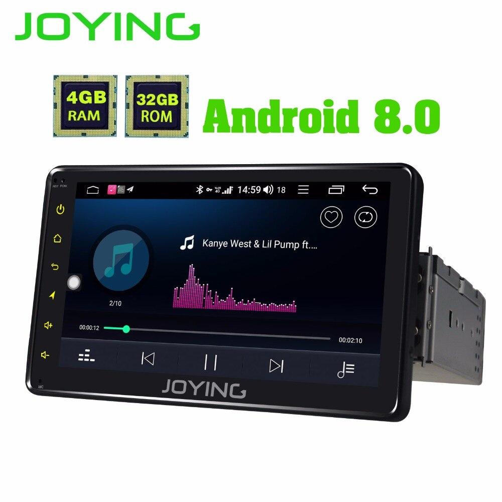 JOYING 4 gb RAM 64 gb ROM 1din 7 ''Android 8.1 voiture radio Construit dans 4g module GPS audio Octa core HD tête unité Sortie Vidéo Cassette