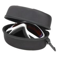 Portable EVA Ski Goggle Glasses Protector Case Without Goggles Glasses Box Sunglasses Zipper Storage Bag with