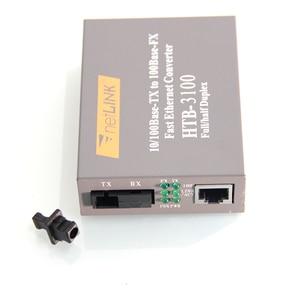 Image 3 - 1ペアHTB 3100 HTB 3100A/b 25キロnetlink 10/100メートルのシングルモードシングル繊維wdm繊維メディアコンバータa 1310nm TX、b 1550nm TX