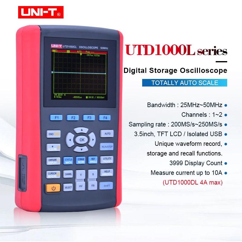 UNI T UTD1025DL/UTD1025CL/UTD1050DL/UTD1050CL Handheld Digital Storage Oscilloscopes With multimeter USB Scope meter