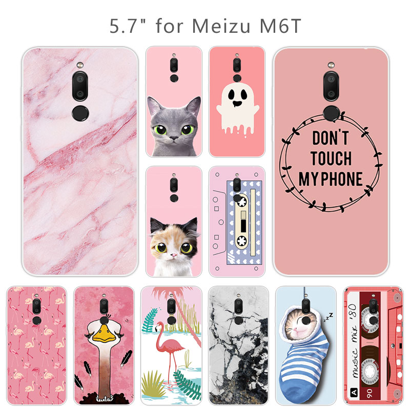 For Meizu M6T Silicone TPU Pink Phone Cases Luxury Fundas Soft Ultra Thin 5.7