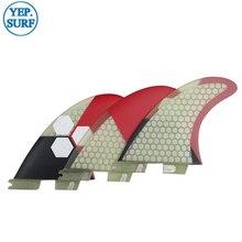 Tri fin set fcs2  fin Fibreglass Surfboard FCSII G7 Honeycomb Fins